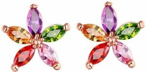 Shimmer Divine Designer Cubic Zirconia Alloy Hoop Earring