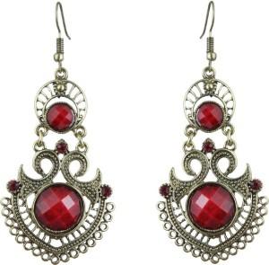 Waama Jewels Antique Gold Plated Dangle & Drop Jewellery For Women Pearl Brass Dangle Earring