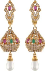 Aarushi Sparkling Cubic Zirconia Alloy Jhumki Earring
