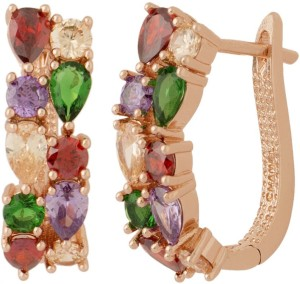 NIA for Voylla Artificial Classic Embellished Cubic Zirconia Brass Stud Earring