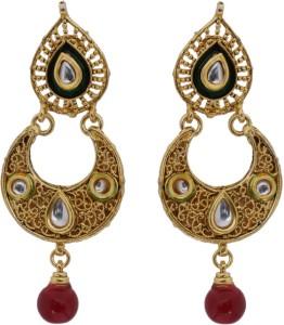 Hyderabadi Abhushan Moon Pearl Alloy Chandbali Earring