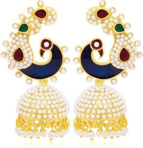 Jewels Guru Diva Style Copper Jhumki Earring