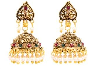 GoldNera Colored Mugal Alloy Jhumki Earring