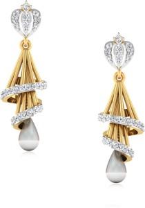 IskiUski Trishina Yellow Gold 14kt Swarovski Crystal Jhumki Earring
