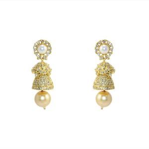 MP Fine Jewellery Artistic Pair Of Tops Zircon Alloy Jhumki Earring