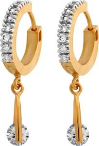 Alysa Charushila Cubic Zirconia Brass, Copper, Silver Hoop Earring