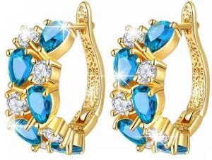Shimmer Divine Luxuria Cubic Zirconia Alloy Hoop Earring