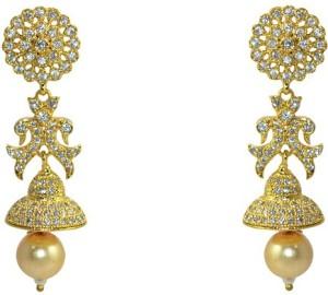 MP Fine Jewellery Traditional Exclusive Tops For Women Zircon Alloy Jhumki Earring
