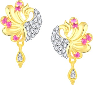 c6330571f Vidhi Jewels Peacock Diamond Studded Body Cubic Zirconia Alloy Brass Stud  Earring Best Price in India   Vidhi Jewels Peacock Diamond Studded Body  Cubic ...