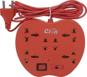 Cion 6+1 apple Powerstrip Extension cord 6 Three Pin Socket