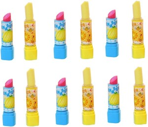 Infinxt Kids Lipstick Style Rubber For Girls Birthday Party Return Gift Pack Of 12