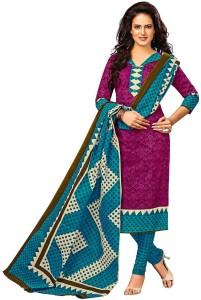 Jevi Prints Cotton Chevron, Printed Salwar Suit Dupatta Material