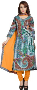 Ziyaa Cotton Self Design Salwar Suit Dupatta Material