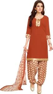 Saara Crepe Printed Salwar Suit Dupatta Material