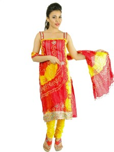 Soundarya Cotton Polyester Blend Embellished Dress/Top Material
