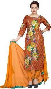 Ziyaa Cotton Floral Print Salwar Suit Dupatta Material