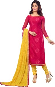 Vastrani Chanderi Solid Salwar Suit Dupatta Material