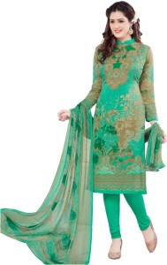 shree jeen mata collection Synthetic Printed Salwar Suit Dupatta Material