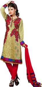 bba41bbf63 Cenizas Cotton Self Design Semi-stitched Salwar Suit Dupatta Material