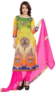 Ziyaa Cotton Self Design Salwar Suit Dupatta Material