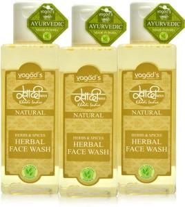 Vagad's Khadi Herbs & Spices Herbal (100ml x 3) Face Wash300 ml
