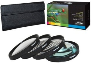 PLR Optics 52Mm +1 +2 +4 +10 Close-Up Macro Filter Set With Pouch For The Canon Close-up Filter