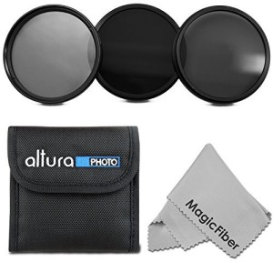 Altura Photo Professional Photography Filter Set and Premium MagicFiber Microfiber Cleaning Cloth ND Filter