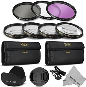 Goja Vivitar Professional UV CPL FLD Lens Filter and Close-Up Macro Accessory Kit for Lenses UV Filter
