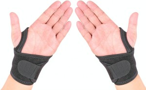 Noova Neoprene Wrist Wrap and Support - Waterproof With Velcro And Thumb Loop Fitness Band