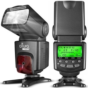 Altura Photo Altura Photo AP-N1001 Speedlite Flash for Nikon DSLR Camera with Auto-Focus, I-TTL, Wireless Trigger Slave Function Flash