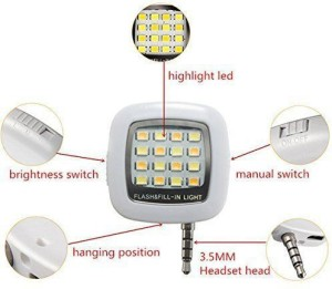 Frappel SELFIE FLASH Fill LIGHT 16 LED FOR IPHONE, SAMSUNG,MI,ANDROID & WINDOWS PHONES Flash