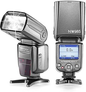 Neewer Neewer NW-985C E-TTL 4-Color TFT Screen Display Slave Flash Speedlite with Flash Diffuser for Select Canon EOS and DSLR Cameras Flash