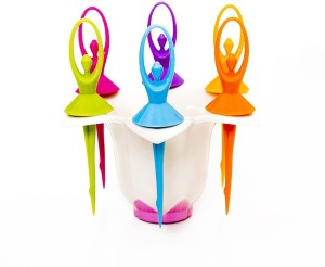 Vmore Lovely Flower Fairy Stand With 6 Pcs Disposable Plastic Fruit Fork