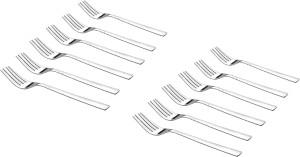 Shapes White Dot Tea Fork 12 Pcs. Stainless Steel Table Fork Set