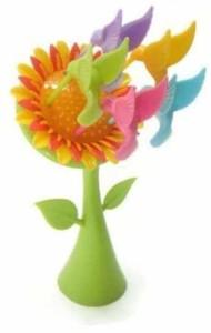 Divinext Sunflower Plastic Fruit Fork Set