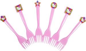 Funcart Hello Kitty Disposable Plastic Dessert Fork Set