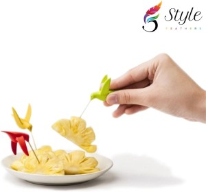 Saleh Hamming Bird Disposable Plastic Fruit Fork Set