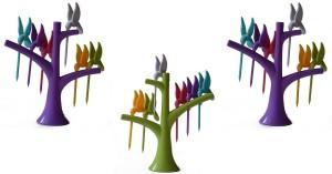 Gade Pack of 3 Birdie-18pcs Plastic Fruit Fork
