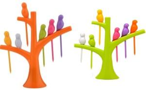 Lovato birds Plastic Fruit Fork Set