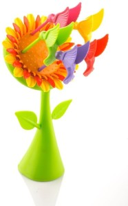 Floraware cute Sun-flower 6 Fruit Plastic Baby Fork, Dessert Fork, Salad Fork, Table Fork, Serving Fork, Fruit Fork