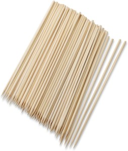 Shrih Bamboo Cocktail Party Sticks Disposable Wooden Roast Fork Set