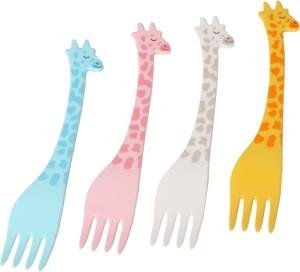 Alria Giraffe Baby Fork 12 Pieces Gift Set for Kids Plastic Baby Fork, Fruit Fork, Salad Fork