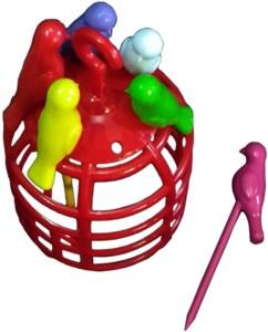 Abee Decorative Casge Design Bird Plastic Fruit Fork Set