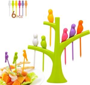 Dizionario Creative Birdie Stick 7 pc Disposable Plastic Fruit Fork Set