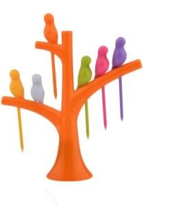 Zarsa Creative Birdies on a tree Disposable Plastic Fruit Fork Set