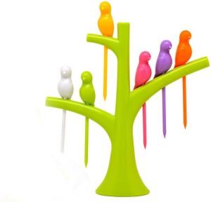 Bright Plastic Fruit Fork