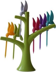 iStore Hamming Bird Disposable Plastic Fruit Fork Set