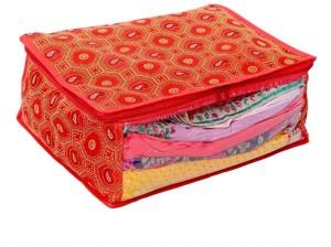 Kuber Industries Designer Saree Cover In Bandhani Cloth Material (Red) MKU006650