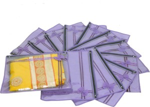 Kuber Industries Designer Non Wooven Single Saree Cover Set Of 12 Pcs (With Zip Lock) KUBS09
