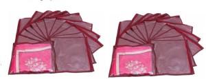 Addyz Plain Pack Of 24 Saree Cover Keep 1 each